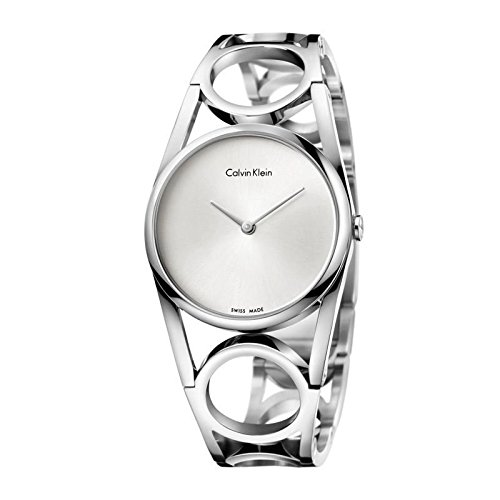 Calvin Klein K5U2S146 Ladies Round Silver Steel Bracelet Watch