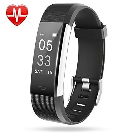 amazon com lintelek fitness tracker heart rate monitor activity