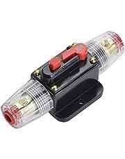 Qiorange DC 12V-24V 80 Amp Circuit Breaker, Fuse Holder, Inline Fuse Block For Car Audio Solar Inverter System Protection (Fuse Holder D Type 80A)