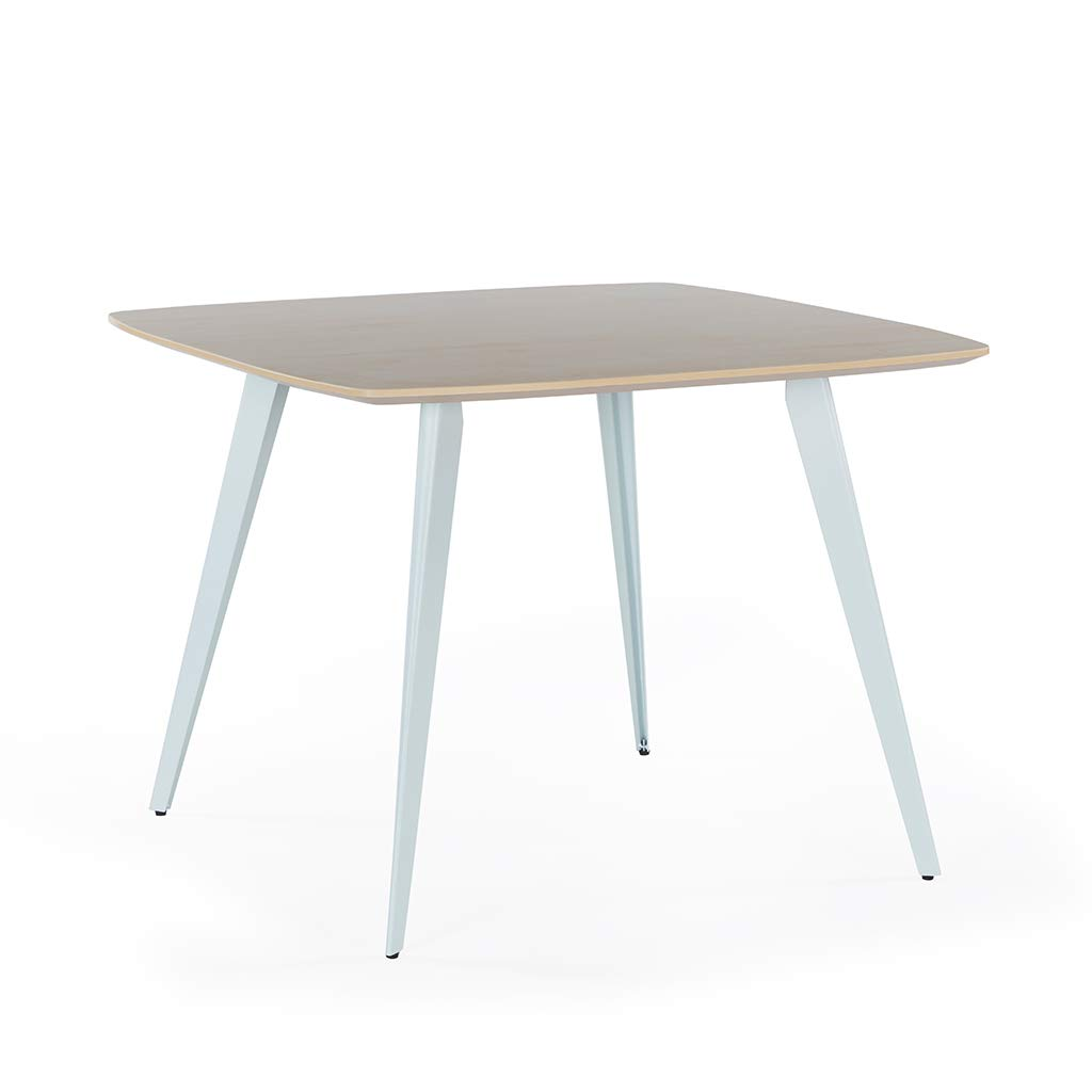 Sunon Spark Small Conference Table with White Steel Leg