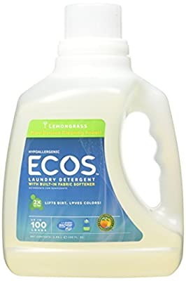 Earth Friendly Products Ecos Liquid Laundry Detergent, Lemongrass, 100 Ounce (2-Pack) by Earth Friendly Products