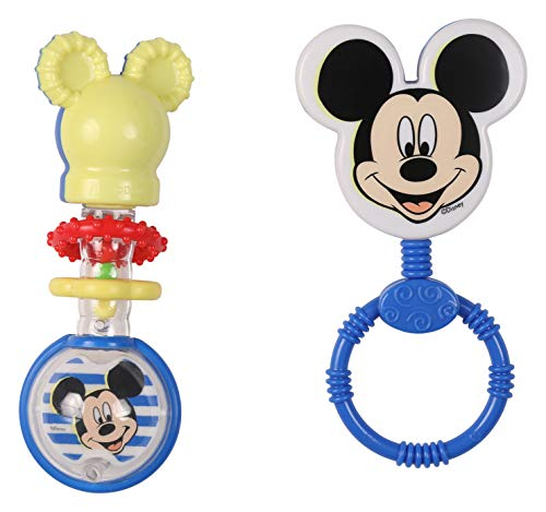 Disney Mickey Mouse Combo Pack Character & Barbell Rattle, Mickey ()