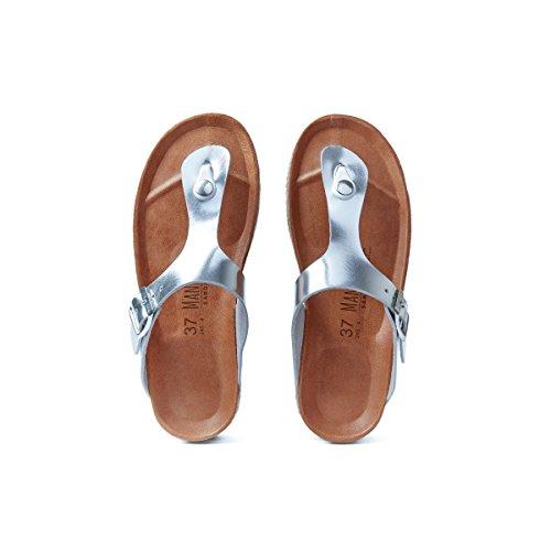 Mandèl Sandalo - Sandalias de Vestir de Piel Sintética Para Mujer Plateado Plateado