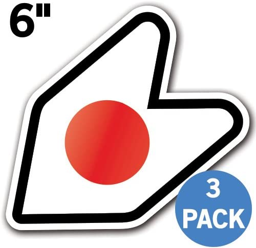 JDM Wakaba Shoshinsha Mark New Driver Badge Leaf Sign Car Bumper Stickers Decals Original - 4 Original - 1 Pack Adelia Co