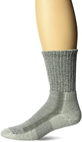 (Thorlos Padded Military Desert Boot Crew Sock Sage L)