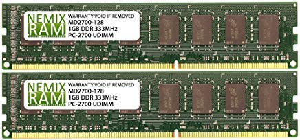 - 2GB (2 X 1GB) DDR 333MHz PC2700 184-pin Memory RAM DIMM for Desktop PC