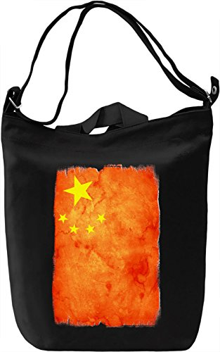China Flag Borsa Giornaliera Canvas Canvas Day Bag| 100% Premium Cotton Canvas| DTG Printing|