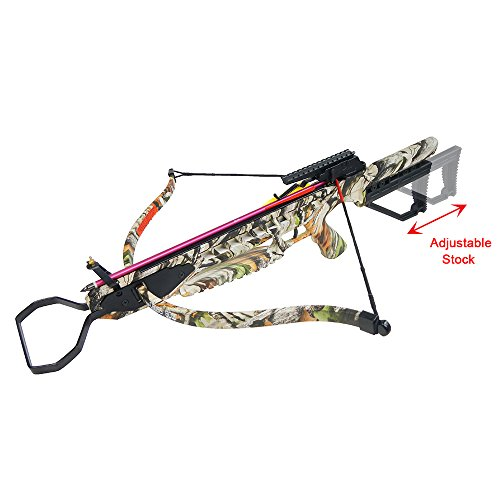 175 lb Vista Camouflage Hunting Crossbow Archery Bow +8 Arrows/Bolts +Rail Lube +Stringer +Rope Cocking Device 150 lbs ()