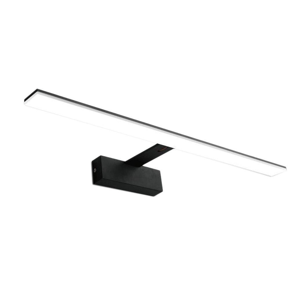 WTL Lighting LED de hornear acabado hierro de aluminio cuerpo de la lámpara de acrílico impermeable y humedad del baño espejo luz frontal ( Color : Blanco , Tamaño : A (6.5cm)-8w42cm )