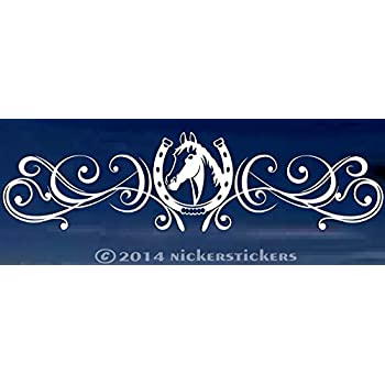 HORSE FLOURISH DECAL STICKER FOR CAR OR WALL DECORATION