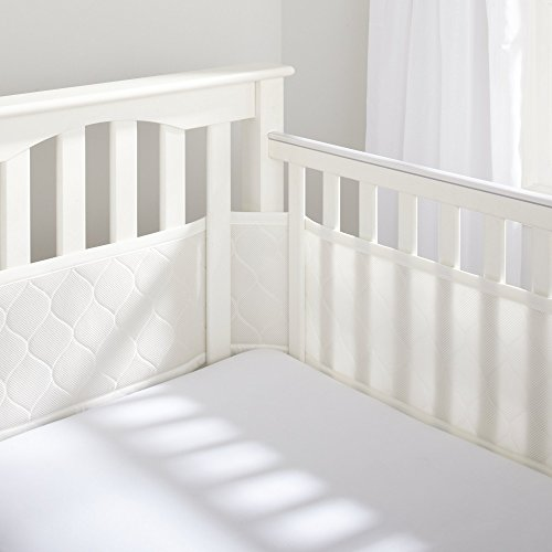 BreathableBaby Deluxe Embossed Mesh Crib Liner, Natural by BreathableBaby