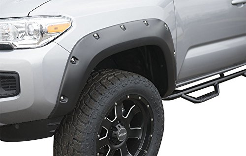 01 Finish (True Edge FLZ209910-01 Rivetz Style Fender Flares for 2016 - 2017 Toyota Tacoma - Smooth Finish)