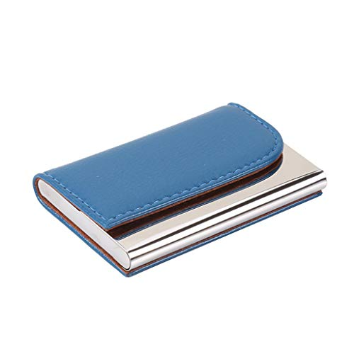 Wffo Men Women Creative Elegant Design Holder Metal Leather Box Cover Credit Business Multi Card Case Wallet ♚5 Colors…