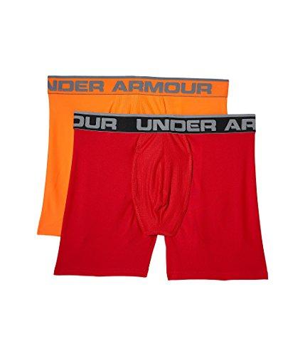 6' Performance Series (Under Armour Men's O Series 6'' Boxerjock (2 Pack), Pierce/Magma Orange, Medium)