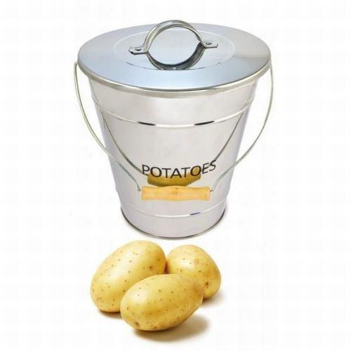 Eddingtons Stainless Steel Potato Storage Bucket / Pail (Pack of 2)