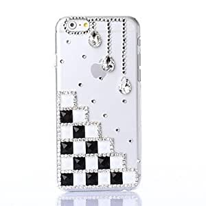 LZX DIY Elegant Black and White Color Pattern Plastic Hard Cover for iPhone 6