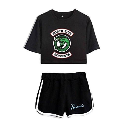 South Shirt Top Shorts Riverdale e Crop Shorts Serpents e Side 2 Riverdale Top T UUtw7x0