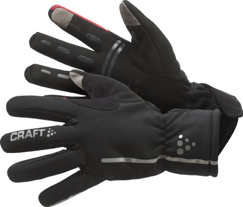 Craft Performance Bike (Craft Men's Bike Siberian Glove, Black/ Bright Red, Small)