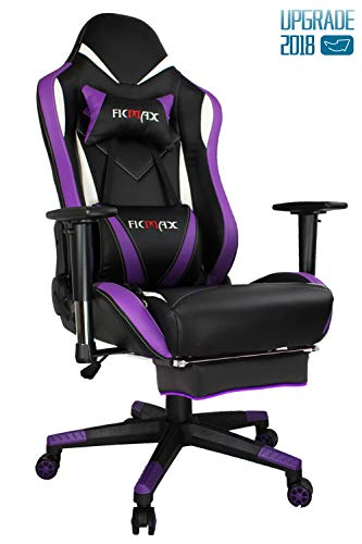 Ficmax Purple Gaming Chair High-Back Ergonomic Computer Chair