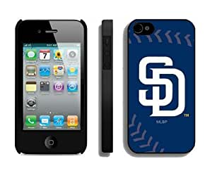 Best Case for Iphone 4/4s Hard Cover Mlb San Diego Padres Sport Design Coolest Phone Protector