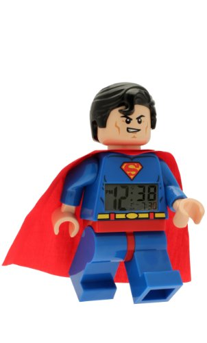 - LEGO Kids' 9005701 DC Super Heroes Superman Minifigure Light Up Alarm Clock
