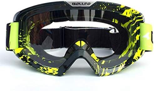 Qazon 着色国境のオートバイのライダー機器とオフロードゴーグルのフロントガラスメガネヘルメットゴーグルスキーゴーグル (Color : 7)