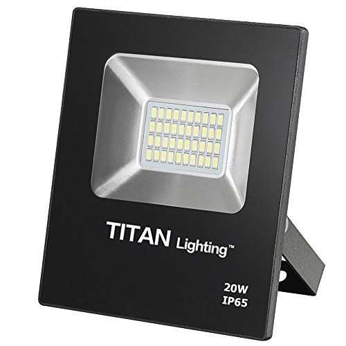 Titan Lighting Bronze Frameless 20W Led Flood Lights, 100W Halogen/CFL Replacement, 1700LM, 6000K Day Light, Waterproof, 120-277V, Instant on