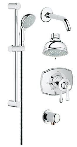 Grohflex Authentic 4-Spray 2-Function Pressure Balance Shower System - 2.0 Gpm (Grohflex Authentic Pressure Balance)