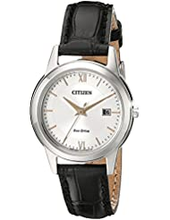 Citizen Womens Eco-Drive Stainless Steel Watch with Date, FE1086-04A