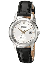 Citizen Women's FE1086-04A Ladies Straps Analog Display Japanese Quartz Black Watch