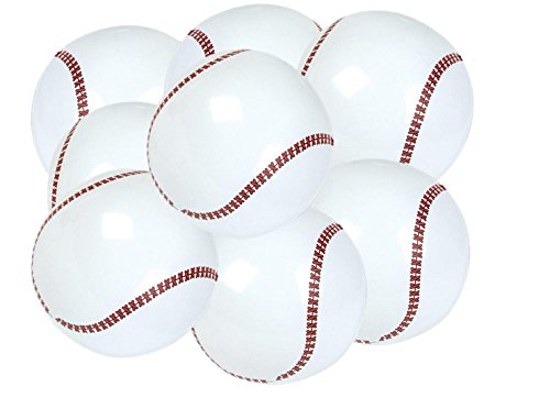 PlayO Baseball Beach Balls - Inflatable Baseballs