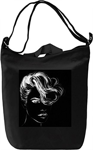 Woman Face Borsa Giornaliera Canvas Canvas Day Bag| 100% Premium Cotton Canvas| DTG Printing|