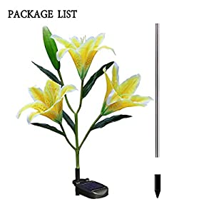Homeleo Solar Lily Flowers Stake Lights 11