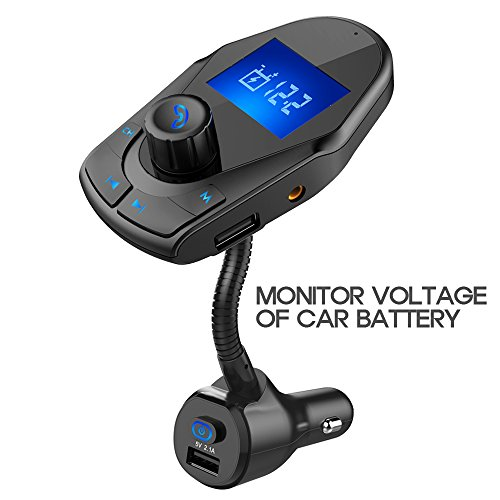 nulaxy km24 bluetooth fm transmitter wireless hands free. Black Bedroom Furniture Sets. Home Design Ideas
