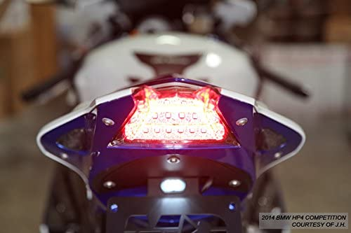 Integrated Sequential LED Tail Lights Smoked Lens For 2009-2014 BMW S1000RR HP4