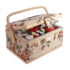 Home-X Tapestry Sewing Basket with Accessories by Home-X