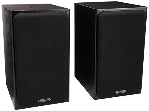 Monitor Audio - Silver Series 1 - 2-way Compact Loudspeakers - Pair - Black Oak by MONITOR AUDIO