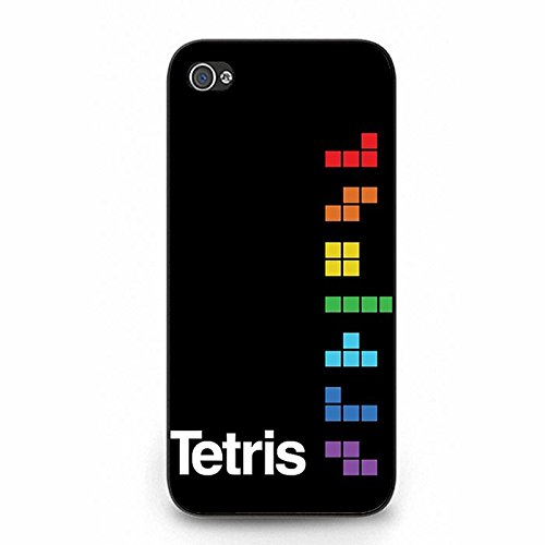 Iphone 5/5S Phone Case Tetris Classic Game Block Black Protective Cover