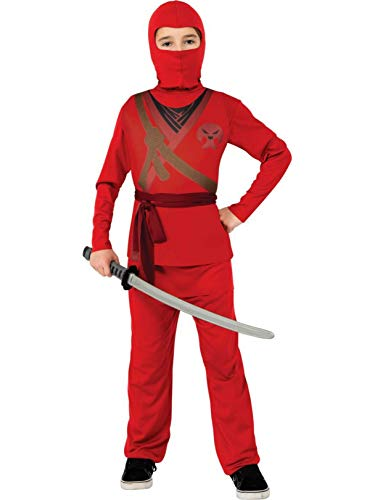 Ninja Child's Costume, Red, Medium ()