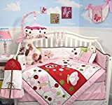 Best SoHo Designs Bed Skirts - Soho Pink dancing butterflies Complete Baby Crib Nursery Review