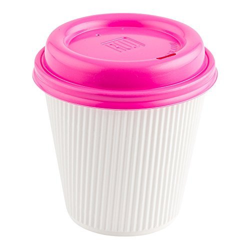 - Coffee Cup Lids - Hot Pink - Plastic - Disposable - Fits 8, 12 and 16 oz Coffee Cups - 500ct Box - Restaurantware