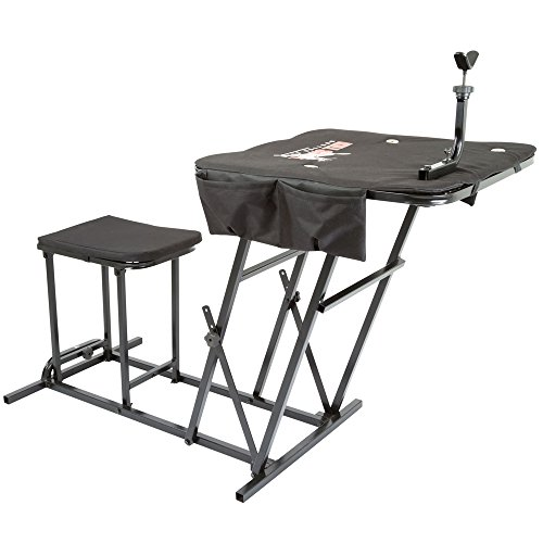 Kill Shot KS-SBP Portable Shooting Bench Seat with Table Gun Rest