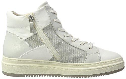 25224 Baskets Femme Hautes Comb Blanc white Tamaris qBgdwg