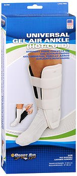 Sport Aid Gel Air Ankle (Hot/Cold) Support Trainer Universal - 1 each, Pack of 3 by SportAid