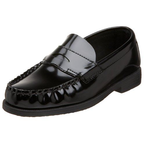 School Issue Simon 4001 Loafer (Little Kid/Big Kid),Black,3 - Penny Loafers For Girls