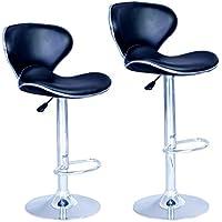 2 Set Adjustable Swivel Bar Stools Chairs