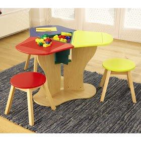 Triple Lego Table With Coloured Stools Amazon Co Uk Toys