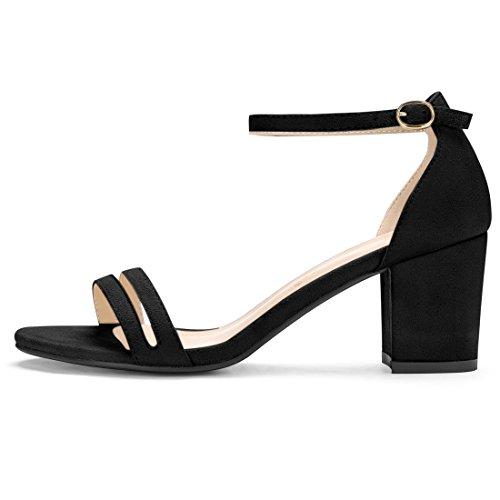 2 Black Con Caviglia Allegra Donna Per Alla K Cinturino Incrociato Sandalo qf1wCvU