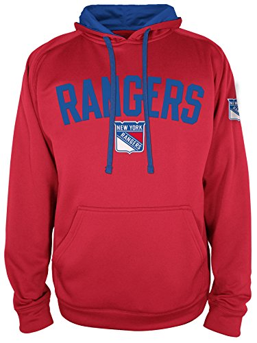NHL New York Rangers National Hockey League Hooded Pullover, Large, Athletic Red