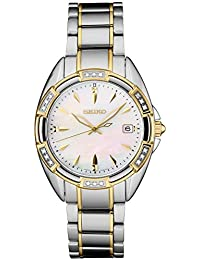 Women's Japanese Quartz Stainless Steel Strap, Two Tone, 0 Casual Watch (Model: SKK880)